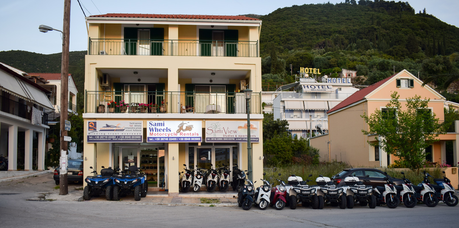 Kefalonia rent a scooter